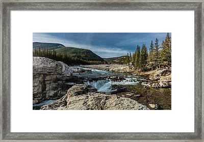 Elbow Falls, Elbow River, Bragg Creek Framed Print