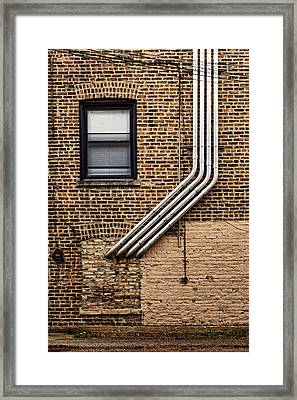 Elbow Your Way In Framed Print by Nikolyn McDonald