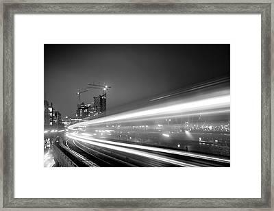 Elbphilharmonie And Cap San Diego Framed Print by Marc Huebner