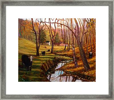 Elby's Cows Framed Print