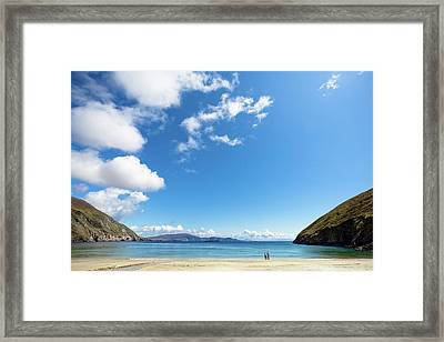 Elderly Couple On Beach Framed Print by Dave G Kelly