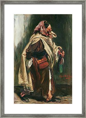 Elderly Moroccan Jew, 1867 Oil On Canvas Framed Print by Alfred Dehodencq