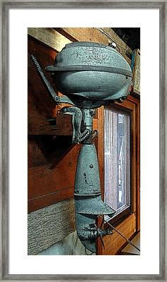 Elderly Outboard - Graphic Framed Print