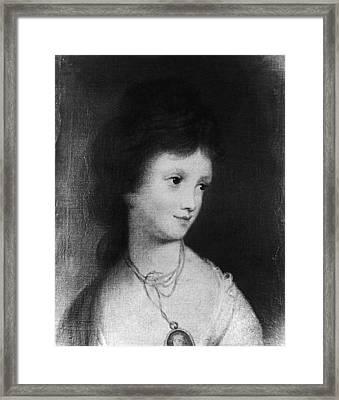 Eleanor Parke Custis Lewis(1779-1852) Framed Print by Granger