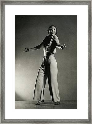 Eleanor Powell Tap Dancing In A Pantsuit Framed Print by Edward Steichen