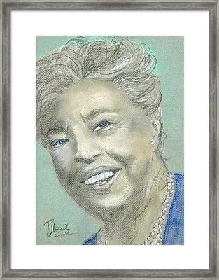 Eleanor Roosevelt Framed Print by P J Lewis