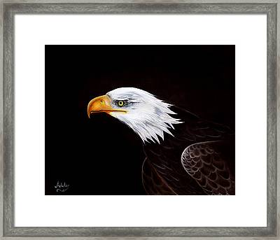 Eleanor The Eagle Framed Print by Adele Moscaritolo