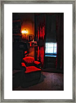 Eleanor's Chair Framed Print by Joan Reese