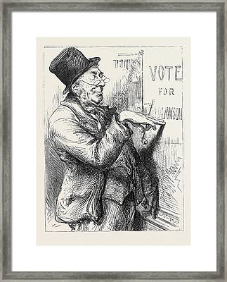 Election Sketches Local Option 1880 Framed Print