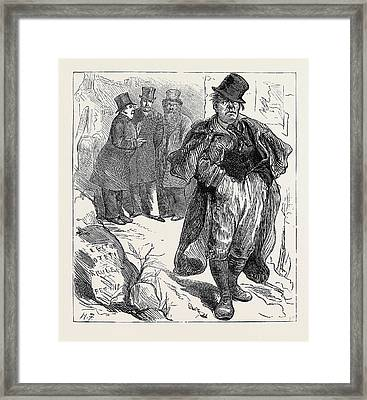 Election Sketches The Irish Vote 1880 Framed Print by English School