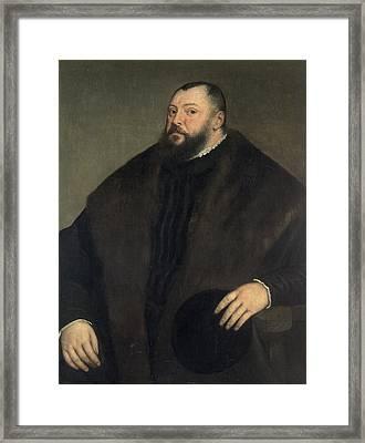 Elector Johann Freidrich Ven Sachsen 1503-54, 1550-51 Framed Print by Titian