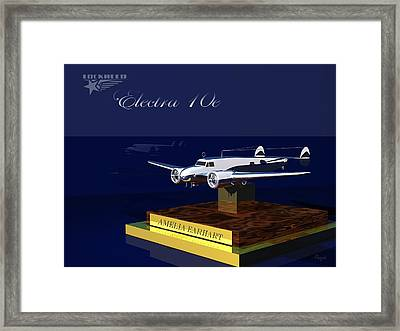 Framed Print featuring the digital art Electra 10e by John Pangia
