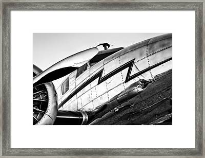 Electra In Black And White Framed Print