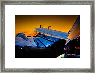 Electra Sunset Framed Print