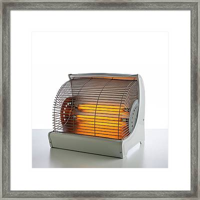 Electric Bar Heater Framed Print by Science Photo Library