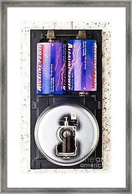 Electric Bell Mechanism Framed Print by Martyn F. Chillmaid