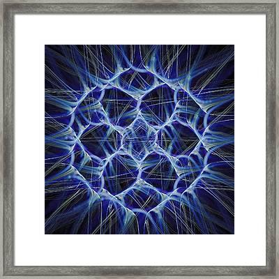 Electric Blue Framed Print by Anastasiya Malakhova