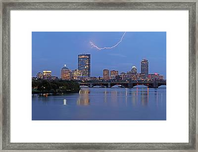 Electric Boston Framed Print by Juergen Roth
