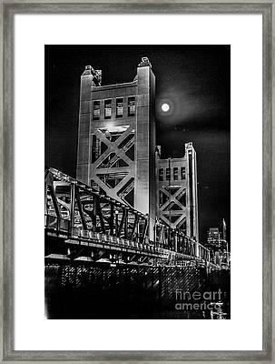 Electric Bridge Framed Print