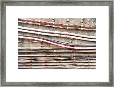 Electric Cables Framed Print by Tom Gowanlock