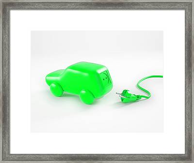 Electric Car Framed Print