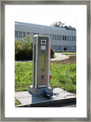 Electric Car Charger Framed Print