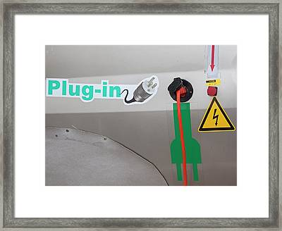 Electric Car Fuelling Point Framed Print by Jim West