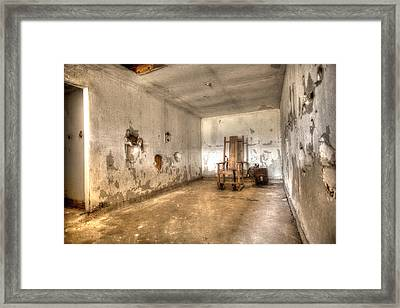 Electric Chair Framed Print