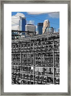Electric City Framed Print by Jim Hughes