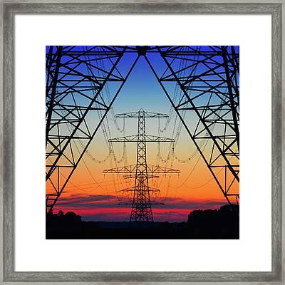 Electric Coloured Sky Framed Print by Riekus Reinders