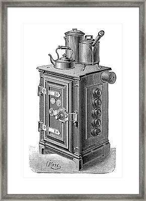 Electric Cooking Stove Framed Print by Science Photo Library