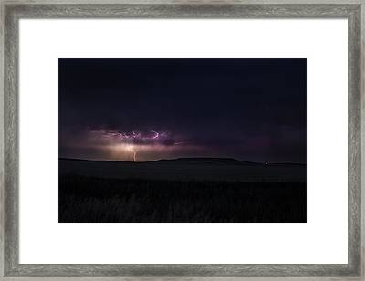 Electric Cyclone Framed Print by Joshua Dwyer