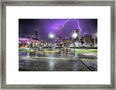 Electric Detroit  Framed Print