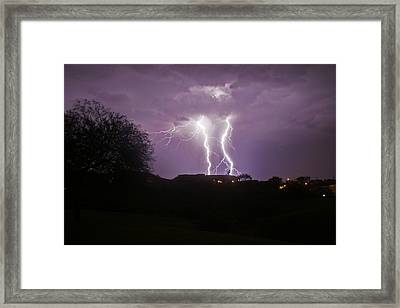 Electric Evening Framed Print