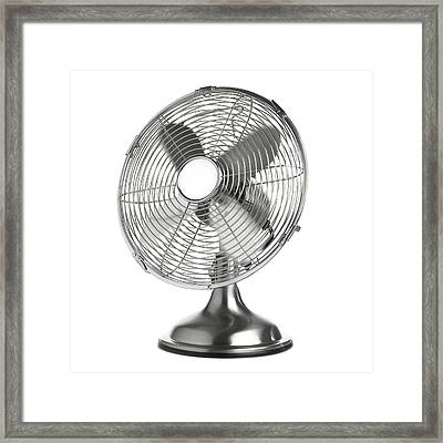 Electric Fan Framed Print by Science Photo Library