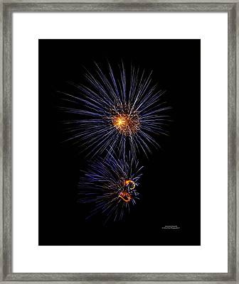 Electric Fire Ball Framed Print by Alexandra  Rampolla