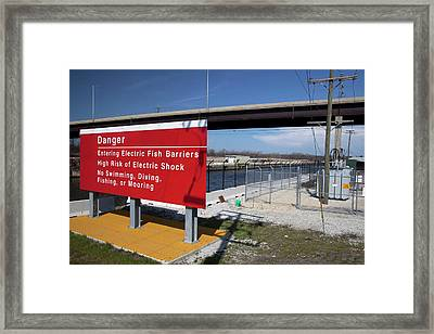 Electric Fish Barrier Framed Print by Jim West