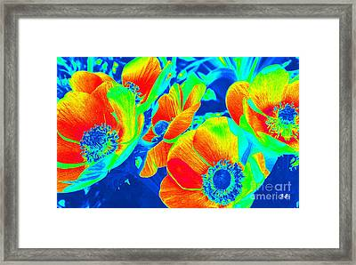 Electric Floral Framed Print
