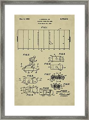 Electric Football Patent Framed Print by Bill Cannon
