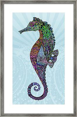 Electric Gentleman Seahorse Framed Print by Tammy Wetzel