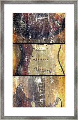 Electric Guitar #2 - In The Studio Framed Print by Brian Howard