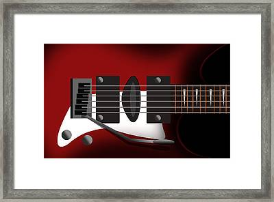Electric Guitar Framed Print by Mark Ashkenazi