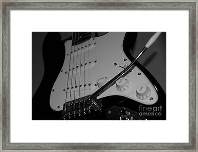 Electric Guitar  Framed Print by Sarah Mullin