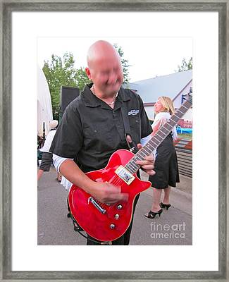 Electric Guitarist Plays It Framed Print