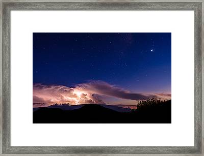 Electric Heavens 1 Framed Print
