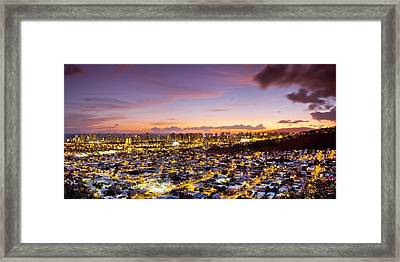 Electric Honolulu Framed Print by Sean Davey