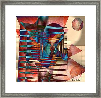 Electric Framed Print by Iris Gelbart