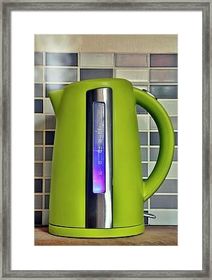 Electric Kettle Framed Print