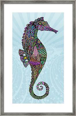 Electric Lady Seahorse  Framed Print by Tammy Wetzel