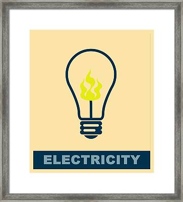 Electric Lamp Framed Print by Tommytechno Sweden